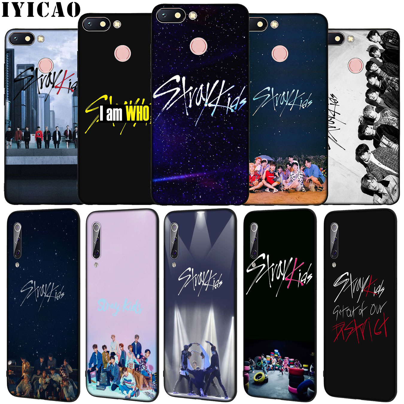 IYICAO Hot POP <font><b>KPOP</b></font> Stray Kids Soft Silicone Phone <font><b>Case</b></font> for Xiaomi <font><b>Redmi</b></font> 8A 7A 6A 5A K20 S2 4A 4X <font><b>Note</b></font> 8 <font><b>7</b></font> 6 Pro 5 Plus Cover image