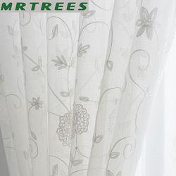 Białe lniane zasłony nowoczesna sypialnia haftowane zasłony z tiulu rzymskie rolety do salonu to zasłona