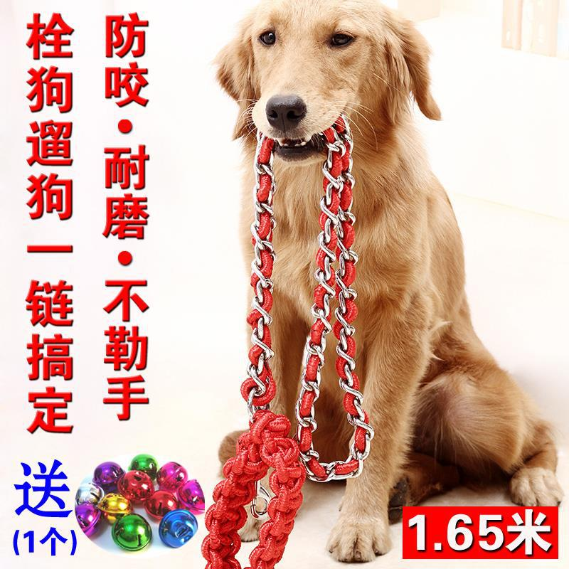 Dog Chain Hand Holding Rope Suppository Dog Dog Anti-Bite Wear-Resistant Bu Le Shou Golden Retriever Labrador Husky Pet Supplies