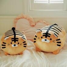 45cm super macio pelúcia impresso gordo redondo tigre brinquedo recheado tigre padrão lance travesseiro zebra listras porco jogar travesseiro cama almofada