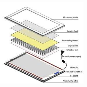 Image 2 - HDJSIGN Outdoor led leuchtkasten Poster A1 A2 A3 A4 Backlit Led Snap Aluminium Rahmen Werbung Licht Box