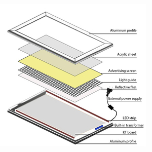 Image 2 - Hdjsignature في الهواء الطلق Led صندوق الضوء ملصق A1 A2 A3 A4 الخلفية Led المفاجئة الألومنيوم الإطار لوحة إعلانات مضيئة