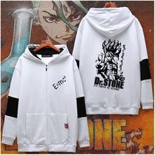 Sweatshirt Hoodie Jacket Plush Dr.stone Senku Long-Sleeve Cosplay Anime Unisex Coat Zipper