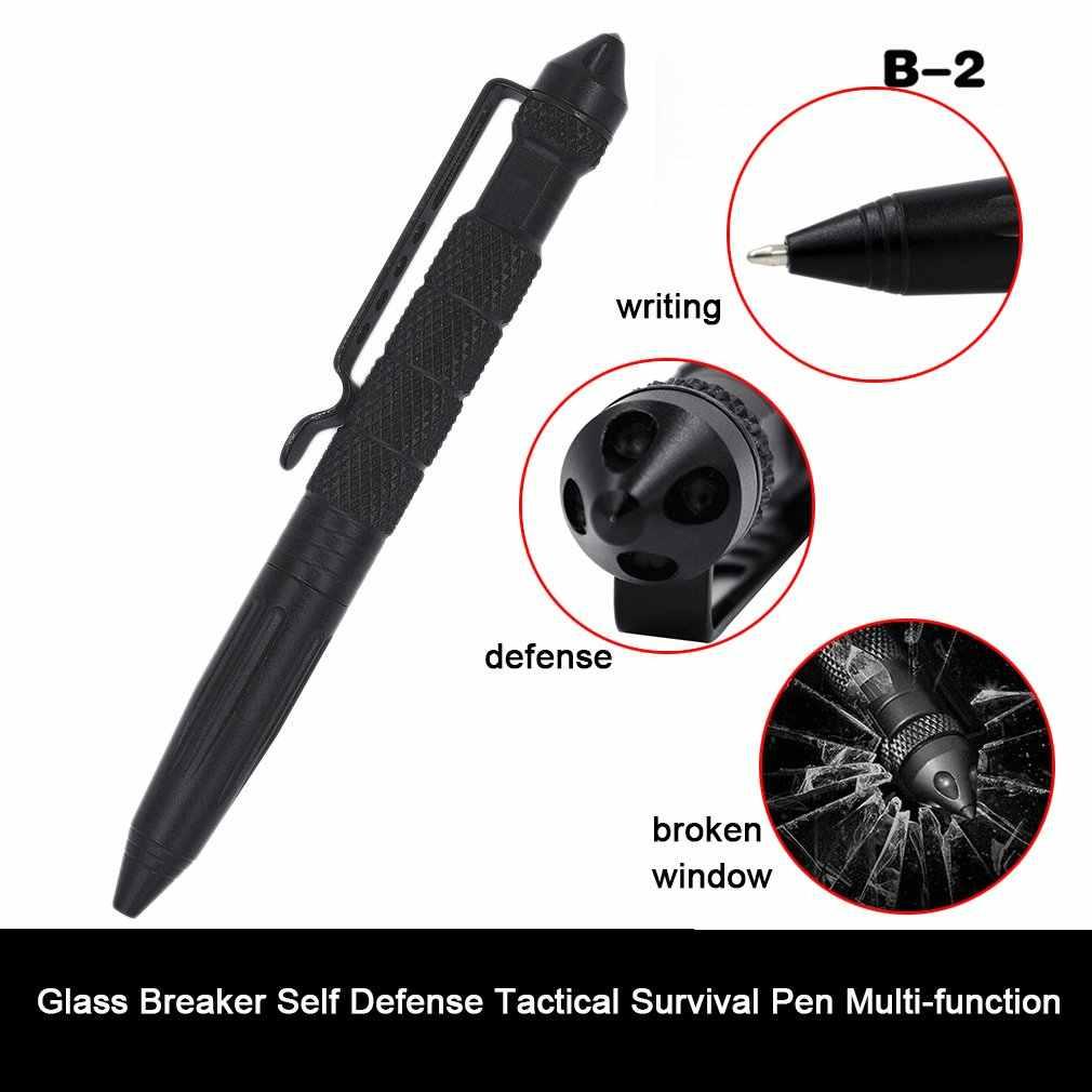מעשי טקטי עטי זכוכית מפסק הגנה עצמית טקטי הישרדות עט רב-פונקציה קמפינג כלי לכתיבה