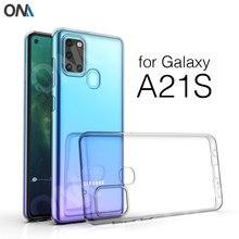 Caso Para Samsung Galaxy A21s Cabido Bumper Soft Case Silicone TPU Claro para Samsung A21s 6.5 A217F Tampa Traseira Transparente