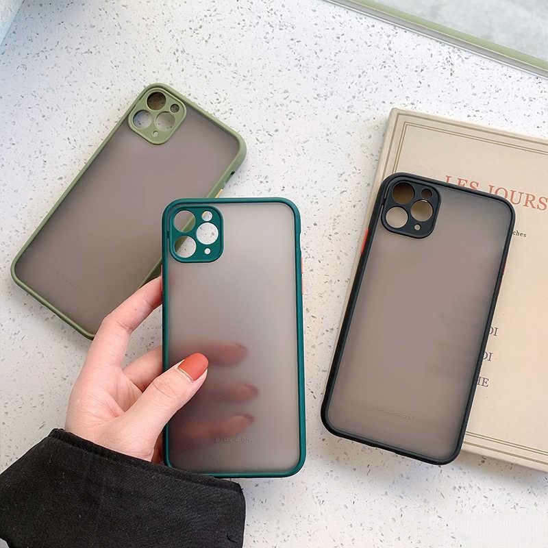 Macchina fotografica di Protezione Del Respingente Del Telefono Custodie Per il iPhone 11 11 Pro Max XR XS Max X 8 7 6 6S più Opaco Traslucido Shockproof Della Copertura Posteriore