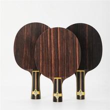 Stuor preto ouro violento ebony carbono zlc embutido alc inner ténis de mesa lâmina ping pong raquete ataque rápido alta elasticidade