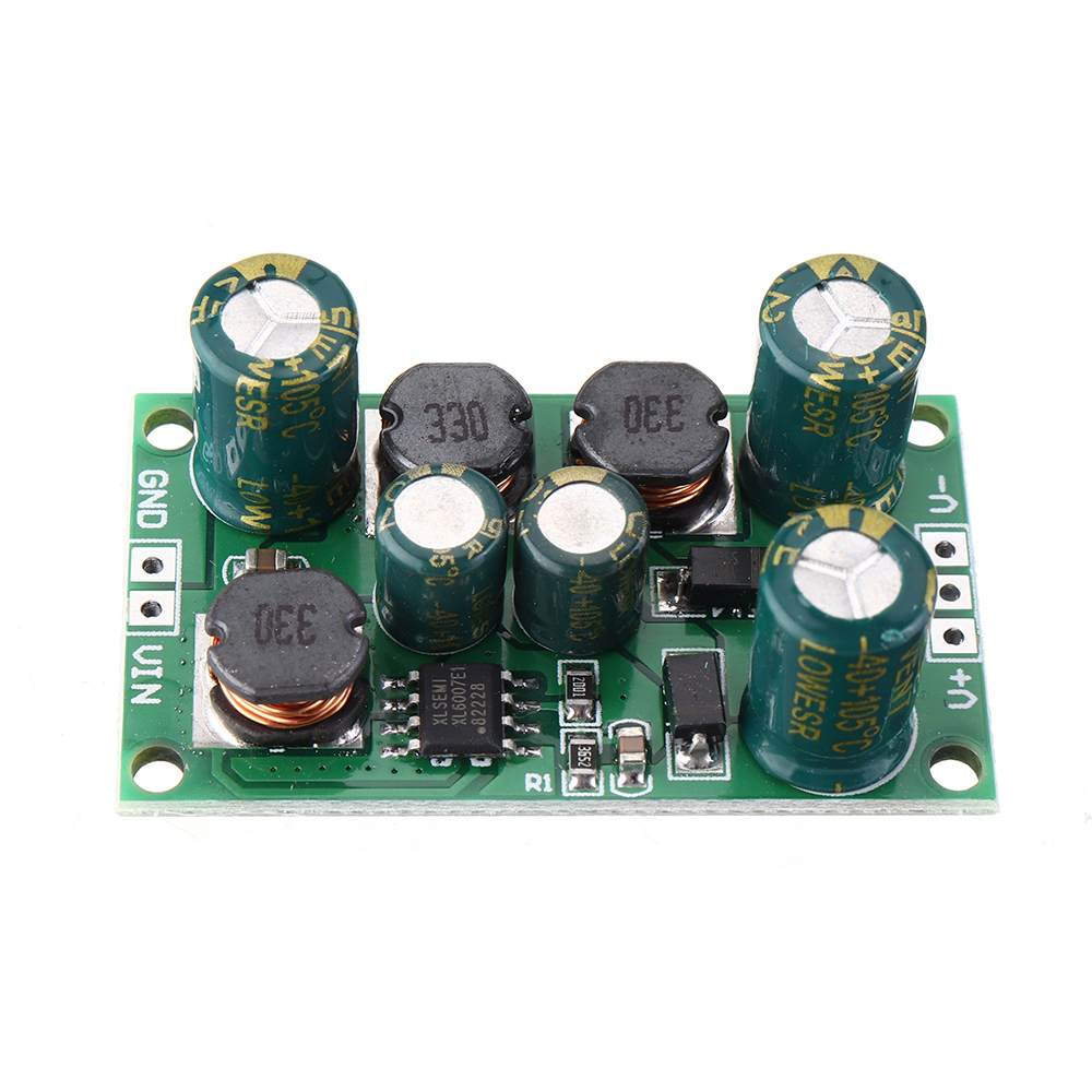 LEORY DC <font><b>2</b></font> in 1 8W 3-24V to 5V 6V 9V 10V <font><b>12V</b></font> 15V 18V 24V Boost-Buck Voltage <font><b>Power</b></font>-<font><b>Supply</b></font> Module for ADC DAC LCD OP-<font><b>AMP</b></font> Speaker image