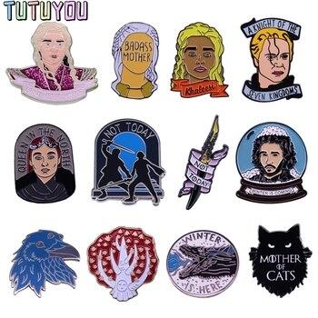 цена PC1791 TV Series Character Cool Figure Metal Enamel Pins And Brooches For Women Men Lapel Pin Backpack Bags Hat Badge Gifts 1pcs онлайн в 2017 году