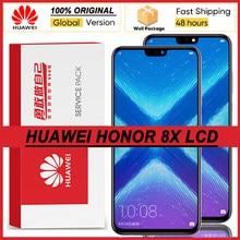 100% original 6.5 display display display com moldura para huawei honor 8x lcd tela de toque digitador honra 8x lcd JSN-L21 JSN-L42 peças reparo