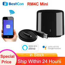 BestCon – Mini télécommande universelle sans fil, wi-fi, IR, RM4C, pour maison connectée, Via l'application Broadlink, fonctionne avec Alexa et Google