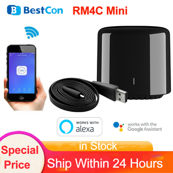 Broadlink BestCon RM4C Mini Smart Home Wifi Wireless IR Universal Remote Controller Via Broadlink APP Work with Alexa Google