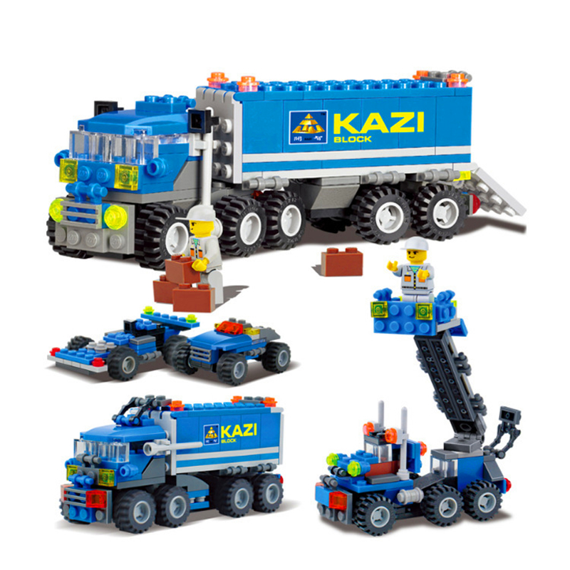 163Pcs Transport Dumper Truck Model Building Block Toys Constuction Technic Figure Gift For Children 6409 60154 Christmas Gifts image