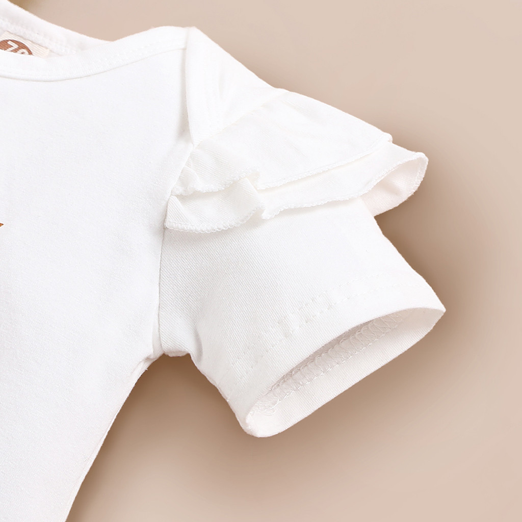ISHOWTIENDA Summer Baby Girl Clothes Newborn Girls Letter Print Romper Bodysuit+Dot Pants+headband Outfits 3-18 Months Clothing