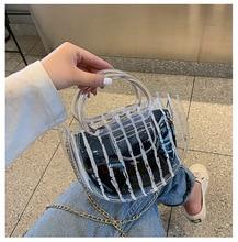 Musim Panas Transparan Jelly Tas 2019 Versi Korea Baru Fashion Mini Rantai Tas Bahu