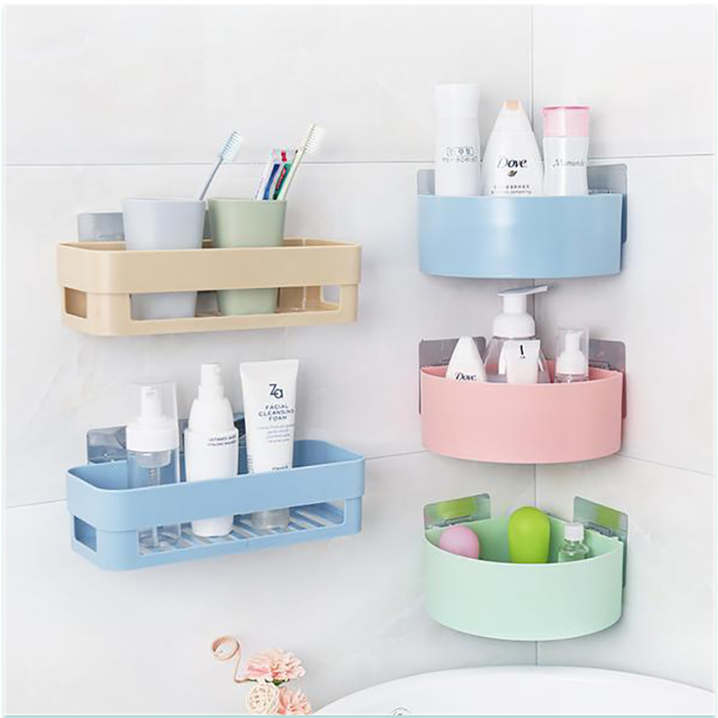 ZUCZUG Bathroom Kitchen Storage Shelf Kitchen Wall Hang Drain Bathroom Organizer Rectangle Semicircle Bathroom Organize Cocina