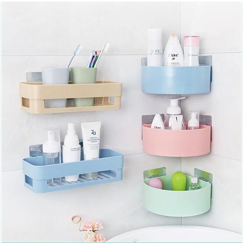 ZUCZUG Bathroom Kitchen Storage Shelf Kitchen Wall Hang Drain Bathroom Organizer Rectangle Semicircle Bathroom Organize Cocina