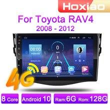 Autoradio Android 4G, Navigation GPS, lecteur multimédia vidéo, 2 DIN, pour voiture Tayota Rav4 (2006, 2007, 2008, 2009, 2010, 2011, 2012)