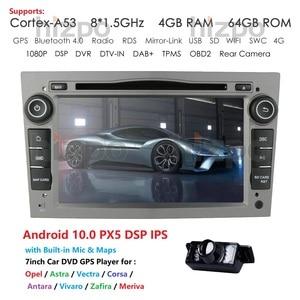 Hizpo 2 Din 4G 64G Android 10 Car DVD Radio Stereo Player For Opel Astra H G J Vectra Antara Zafira Corsa Vivaro Meriva Veda GPS