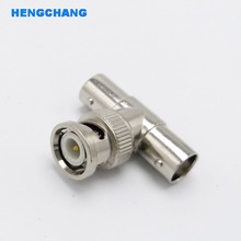 T Type tee BNC Adapter BNC Splitter Connector Coupler BNC male to 2 Female connector 50pcs