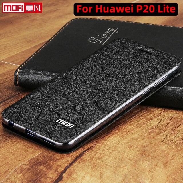 Flip Dành Cho Huawei P20 Lite Ốp Lưng Đứng Bao Da Huawei P20 Lite Bao Da PU Mofi Cao Cấp Silicone Capa Lấp Lánh p20 Ốp Lưng Điện Thoại