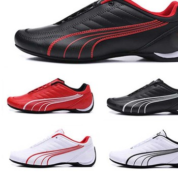 2020 New Pumas Ferrarimotorcycle Men's Shoes Racing Shoes Leather Men's Sneaker Sports Classic Driving Shoes