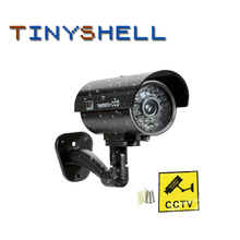 Dummy Waterproof Security CCTV Surveillance Camera Fake Camera With Flashing Red Led Light Outdoor Indoor 100 pieces waterproof security camera sticker warning decal signs for cctv surveillance fake camera and dummy camera