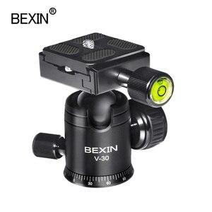 Image 2 - Videocamera testa a sfera video dslr treppiede montaggio su testa mini ballhead testa panoramica rotante a 360 gradi per fotocamera dslr treppiede