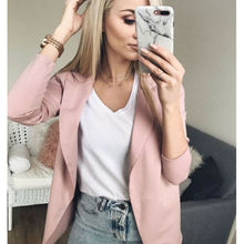 Vadim WomenThe Slim Casual Long Sleeve Blazer Feminino Women Vests Top Casual Dr