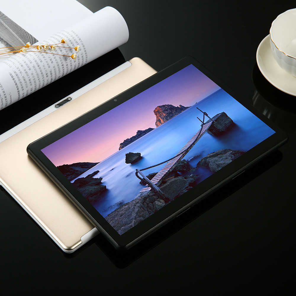 6G + 128GB temperli cam 2.5D 10 inç Tablet PC Android 8.0 6GB RAM 128GB ROM 1280*800 IPS 3G 4G LTE korna Loud Tablet 10 10.1""
