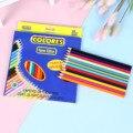 Набор цветных карандашей 12/24 шт., карандаши для рисования, детские инструменты для рисования, канцелярские принадлежности, лучший подарок д...