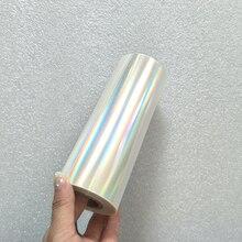 Голографическая фольга ПРОСТАЯ ПРОЗРАЧНАЯ фольга горячего тиснения на бумаге или пластика 16 см x 120 м/лот DIY пакет коробка