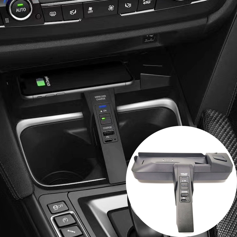 10W Car Wireless Charger QI Phone Charger For BMW 3 4 Series F30 F31 F32 F33 F34 F35 F36 M3 F80 M4 F82 F83 2014-2018 Accessories