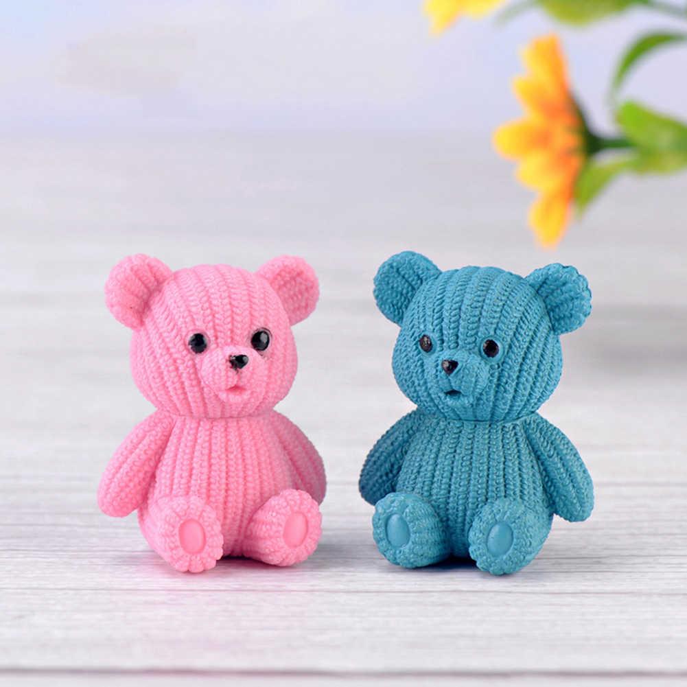 Schöne Bär Tier Figurine Handwerk DIY Miniatur Fee Garten Pflanze Bonsai Decor