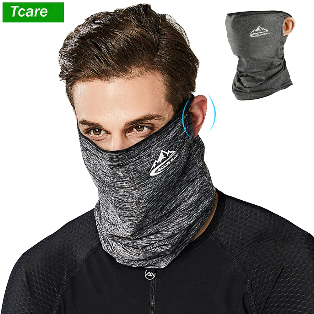 1Pcs Multi Functional Mouth Face Mask Ice Silk Sunscreen Cap Scarf Outdoor Summer Cycling Bicycle Sportswear Accessories 1