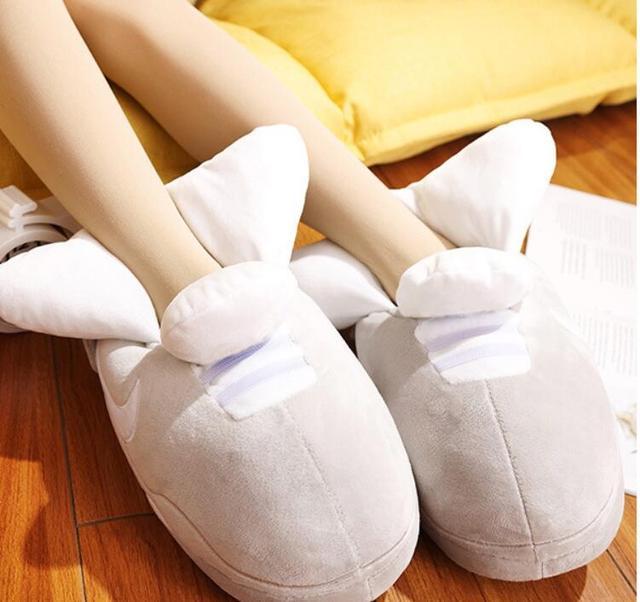 Женские тапочки, зимние тапочки, кроссовки для влюбленных, Зимняя Теплая обувь, Тапочки для хлеба, толстые тапочки, Симпатичные сланцы, сланцы для влюбленных, Модные слипоны