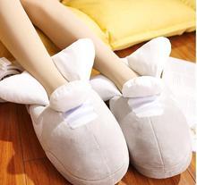 Femmes pantoufles hiver pantoufle amoureux baskets hiver chaud chaussures pain graisse pantoufles mignon diapositives amant sans lacet mode