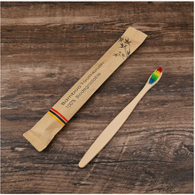 Eco friendly toothbrush Bamboo Resuable Toothbrushes Portable Adult Wooden Soft Biodegradable Plastic-Free Oral Care Tooth Brush