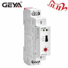 משלוח חינם GEYA GRT8 LS מסילת Din מדרגות זמן מתג 230VAC 16A 0.5 20 דקות אור עיכוב מתג