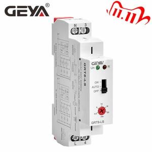 Image 1 - משלוח חינם GEYA GRT8 LS מסילת Din מדרגות זמן מתג 230VAC 16A 0.5 20 דקות אור עיכוב מתג