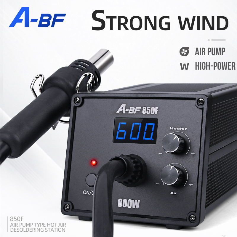 A-BF Anti-static Digital Display Desoldering Station Hot Air Gun Spiral Wind Constant Temperature Adjustable Welding Station