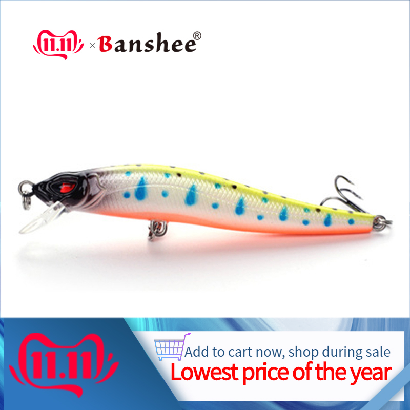 Banshee 86mm 5g Fishing Lure Minnow Jerkbait Pike/Trout Wobbler Floating Hard Lure Slim Crankbait Artificial Bait Pike