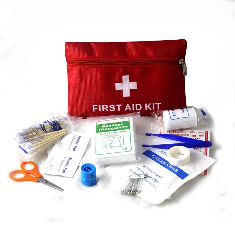 30 pçs/set primeiros socorros kit de sobrevivência de emergência saco de armazenamento viagem em casa no carro acampamento ao ar livre vestir cuidados com feridas suprimentos médicos