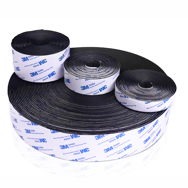 16/20/30/38/50mm Strong Self Adhesive 3M Glue Hook And Loop Fastener Tape Nylon Sticker Velcros Adhesive  For DIY Accessories