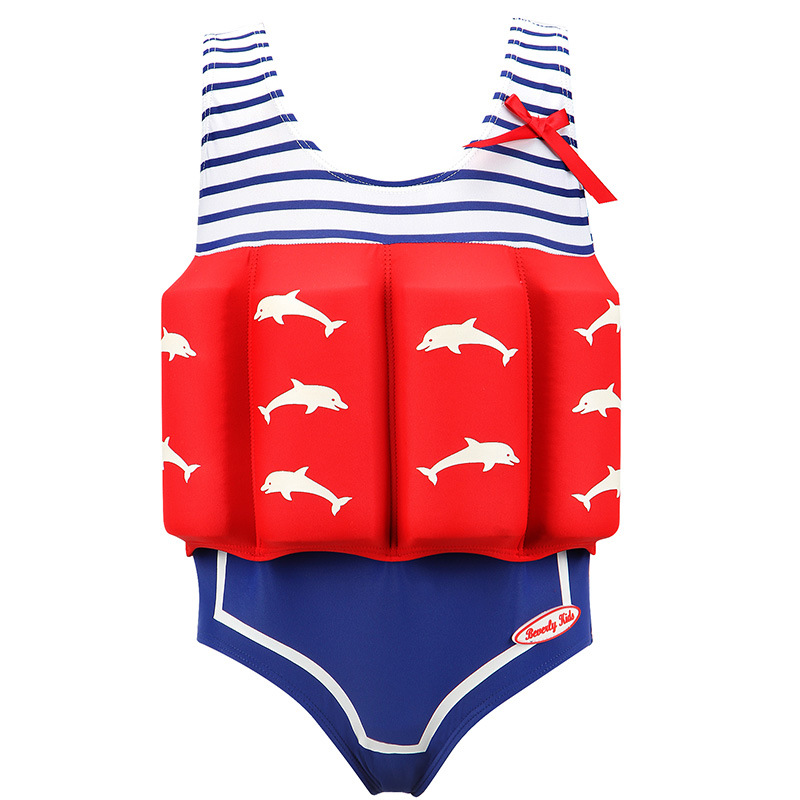 Children's Baby Swimwear For Girls Boys Float Swimsuit Kids Bathing Suit Child Swim Buoyancy Swimsuit Swimming Ring Quick Dry