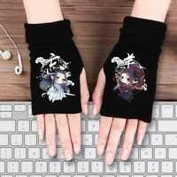 Cartoon anime handschuhe Hatsune Miku Dämon Slayer Kimetsu keine Yaiba Ein Stück König Avatar Naruto mo dao zu shi baumwolle halb handschuhe