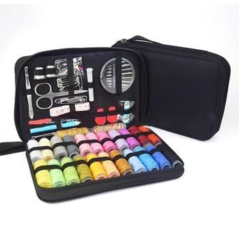Juego completo de agujas, Kit de costura DIY, cosido, costura, artesanía, hilo de coser + funda para viaje, acolchado, costura, hilo de bordado