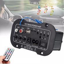 Samochodowy wzmacniacz cyfrowy Audio cyfrowy wzmacniacz Subwoofer Bluetooth Hifi płyta wzmacniacza zasilania Audio tanie tanio CN (pochodzenie) Double Din AC 110-220 V DC 12-24V