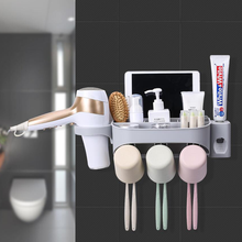 VIP Mouthwash Cup Set Automatic Squeeze Toothpaste Bathroom Suction Wall-Free Perforated Toothbrush Holder