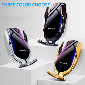 Image 5 - 10W Fast Charger Automatic Clamping Car Wireless Charger Qi Infrared Sensor Phone Holder For iPhone 11 Xs Huawei P30 Pro Samsung